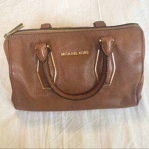 Michael Kora camel leather handbag